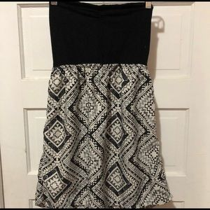 Roxy strapless dress Size M